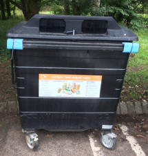 New bin for recycling juice cartons at Cleveland Way Car Park