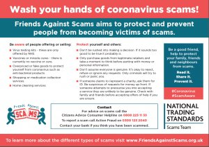 Warning about potential scams and precautions to take
