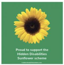 Hidden Disabilities Sunflower Scheme in Helmsley & Ryedale